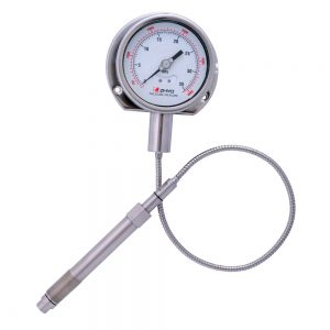 PT124Y-615- Flexible stem melt pressure gauge